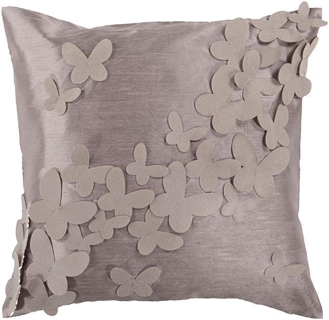 Sequined Butterfly Pillow Cover